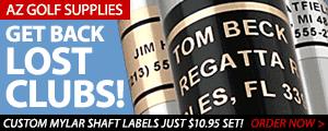 AZ Golf Supplies Custom Club Labels