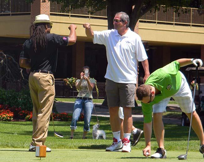 Josh Cribbs Bernie Kosar YMCA Golf