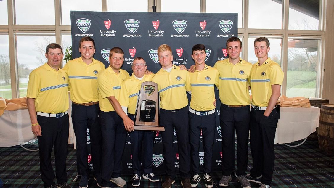 2019 Kent State Men's Golf Team MAC Championship co-winners
