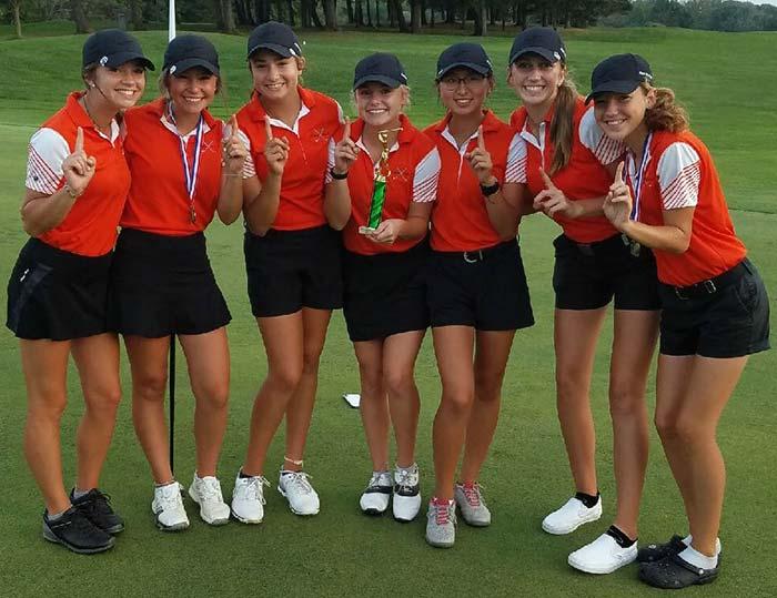 Green Girls High School Golf Team, 2019 Medina Invitational Champs