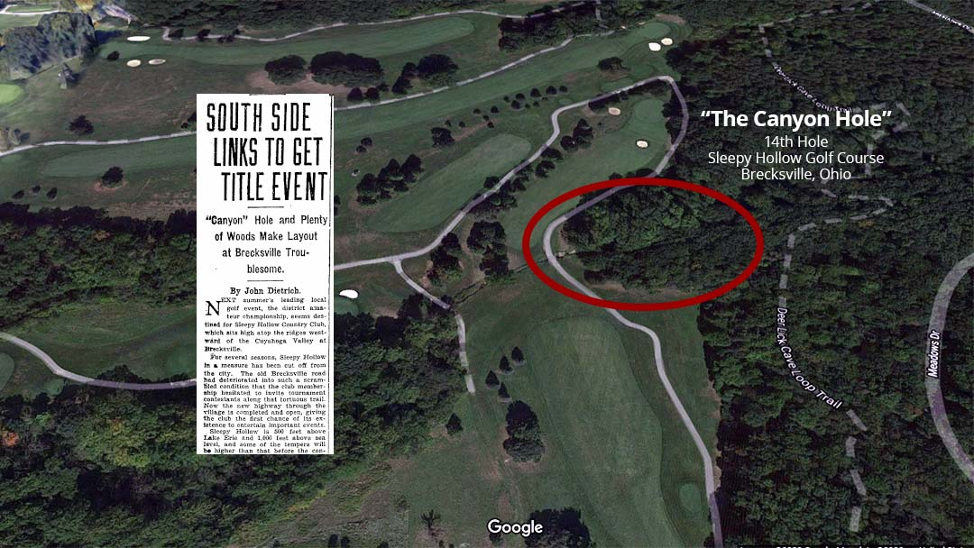 The Canyon Hole: 14th at Sleepy Hollow Golf Course, Brecksville