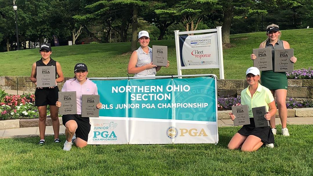 2020 PGA Junior Sectional Girls Top Finishers @ Portage CC