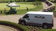 The NOGA Tournament Scoring Van and Tent