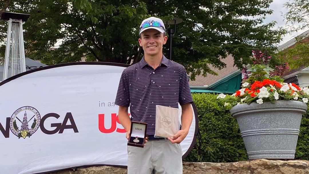 Jordan Gilkison, 2021 U.S. Junior Am Cleveland Qualifier medalist