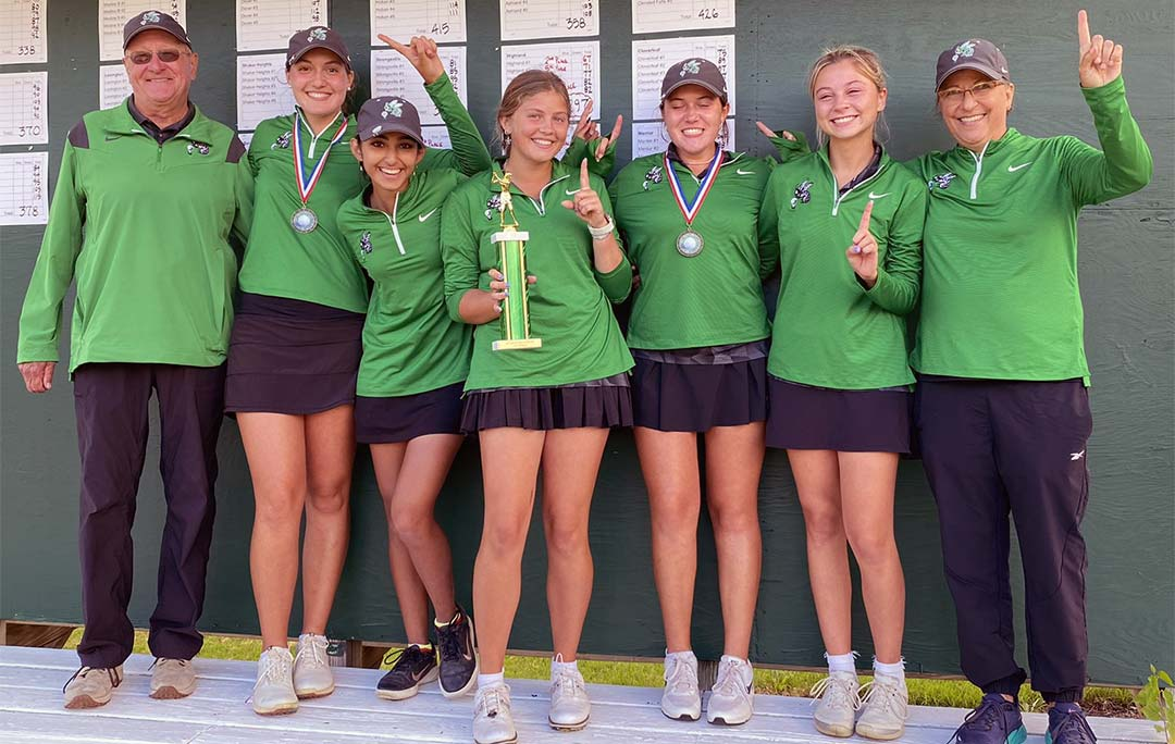 2021 Highland Girls Golf Team, winners of the Medina Invitational