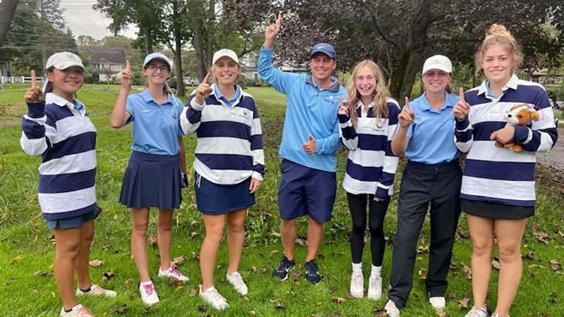 Hudson Girls Golf Team, 2021 Suburban Conference National Champions