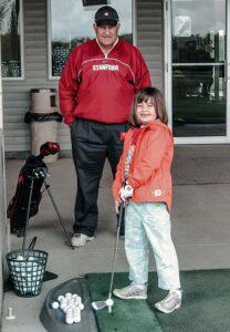 Olivia and Leo Zampedro at Troy Hill Golf Center