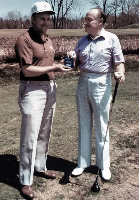 Leo Zampedro and Bob Hope